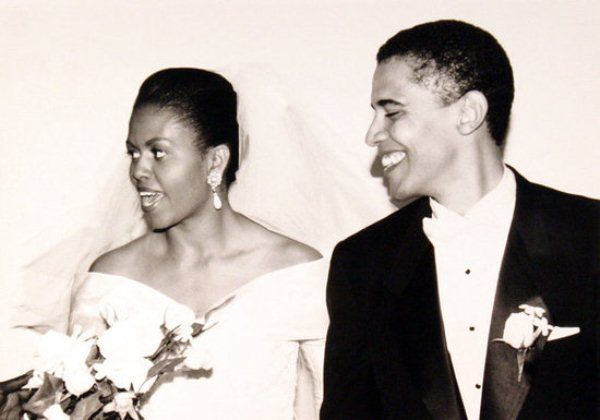 Love this article on the Obamas and 90s wedding fashion. You have to love Michelle's off the shoulder wedding gown, its timeless.