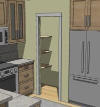 Nifty pocket door pantry   Kitchen-spiration   Pinterest