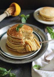 Orange Basil Ricotta Pancakes. #glutenfree