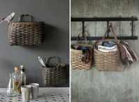 7 Baskets as Wall-Mounted Storage by