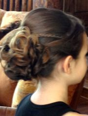 wedding updo. flower girl hairstyle