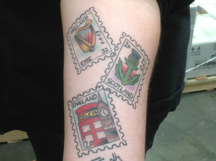 Postage Stamp Tattoo  Tattoo Pinterest