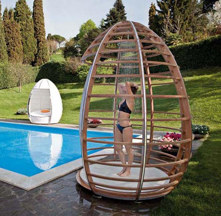 pool shower idea
