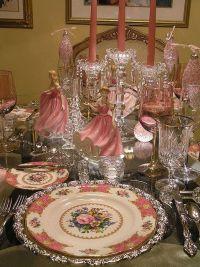 Christmas pink table setting | Christmas Decorations ...