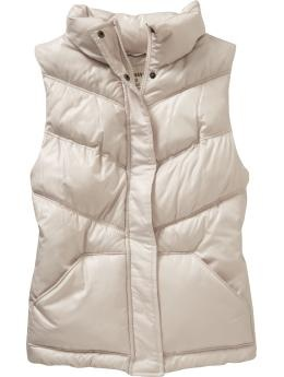 Not sure if this is THE ONE, but I want a puffy vest. White, cream, black or brown. dont care where its from. prob a size medium.