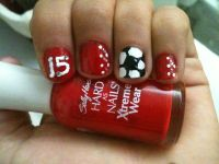 Soccer nails #15 | Marina | Pinterest