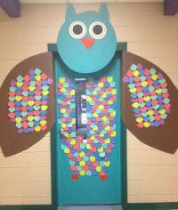 Owl classroom door! | PORTES | Pinterest