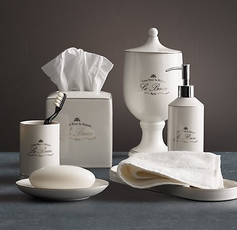 bathroom accessories  French Inspired Decorating  Pinterest