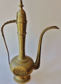 Tall Vintage Brass Genie Lamp/ Vase/ Tea Pot/ Pitcher
