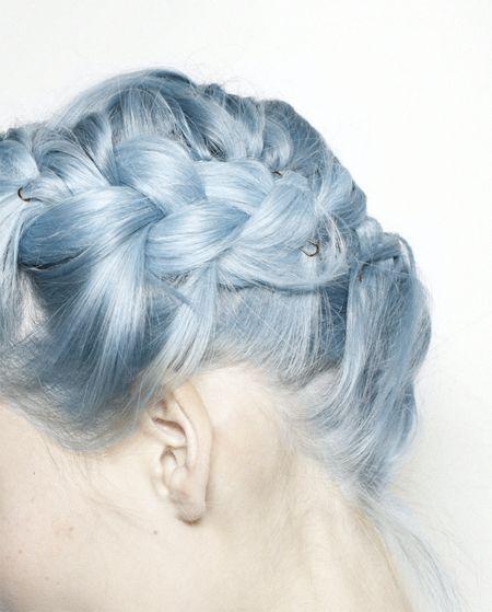 Blue braids.