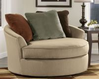 Oversized Round Swivel Love Chair   A Comfortable Home ...