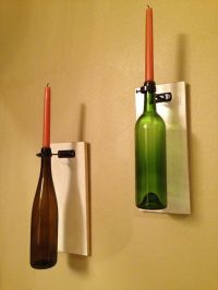 Wall wood wine bottle holders-Made in USA