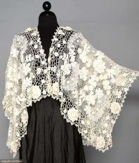 IRISH CROCHET SHAPED SHAWL, c. 1910 | Just Plain Beautiful ...