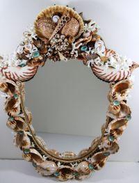Shield Shaped Sea Shell Mirror With Coquina Beach Sand ...