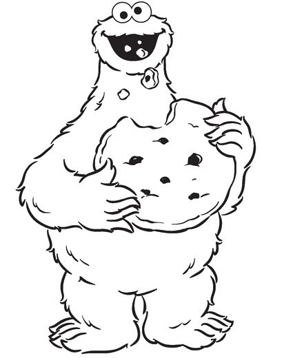 Free coloring pages of of the cookie monster