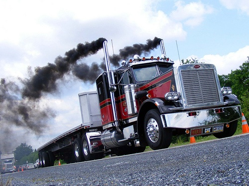 Image result for pics  peterbuilt trucks smoke out the stacks