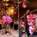 Keeping the centerpieces low but the the effect high the simple and