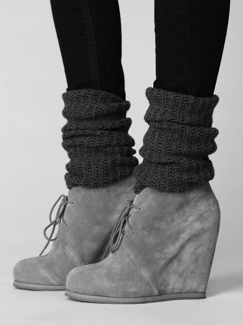Why didn't think of this, my ankles are always cold when I wear booties with skinnies!
