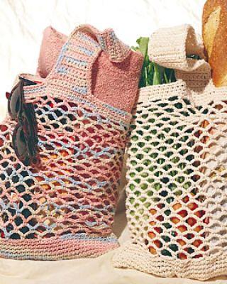 Crochet mesh bags.  Free pattern from Michaels.