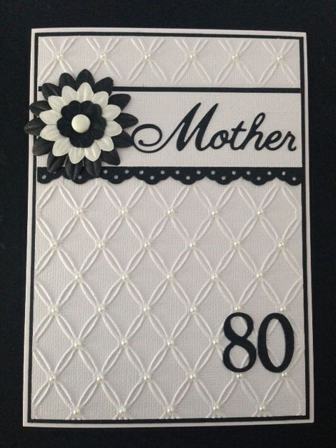 Mother 80th Birthday Card My Cards Pinterest