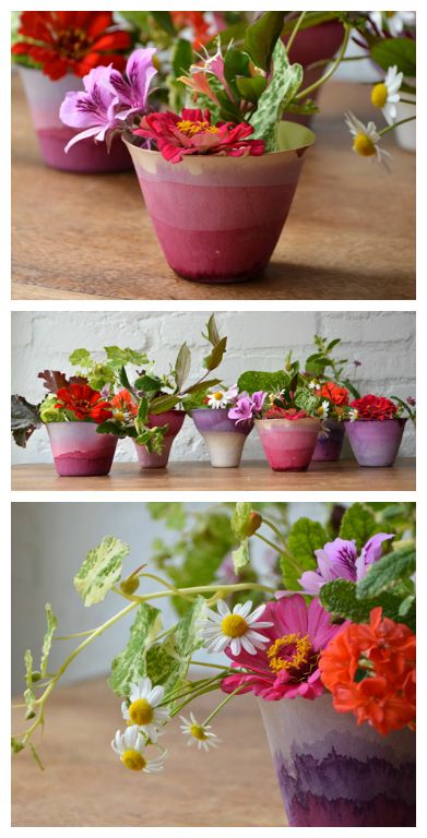 Dip Dye Cups| DIY Flowerpot