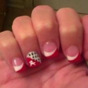 alabama college football nail design