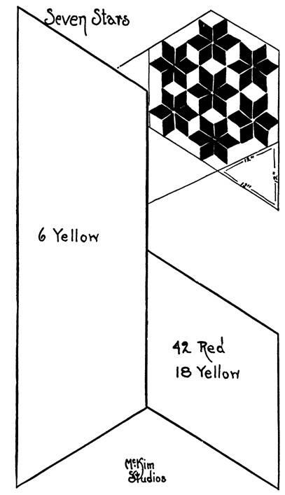Quilt pattern: Seven Stars