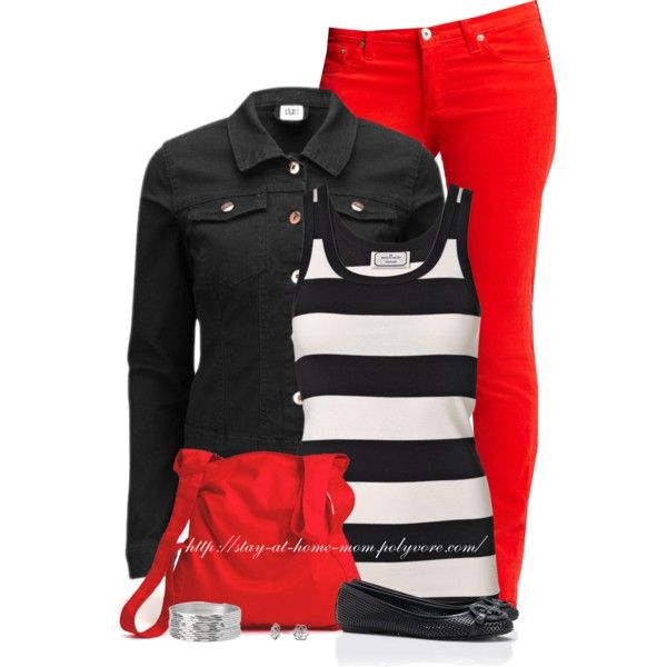 Denim Jacket & Stripes