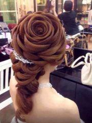rose wedding hair design weddings