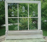 Old Window Planter Primitive Cottage Country Garden or ...