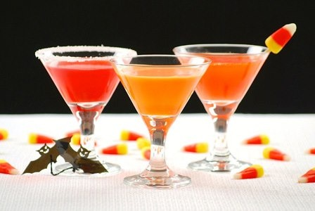 Candy Corn Martini with Bombay Sapphire