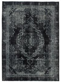 Black premium Persian Vintage carpet produced and sold by ...