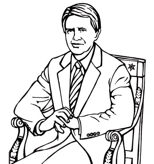 Free coloring pages of jimmy carter