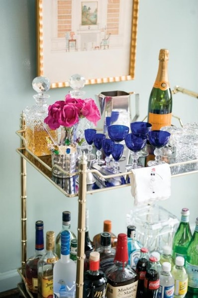 lovely bar cart
