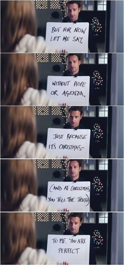 Love Actually (2003) -- Keira Knightley, Andrew Lincoln, Hugh Grant, Liam Neeson, Bill Nighy