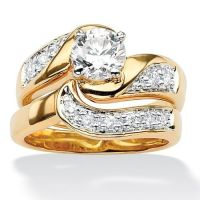 Bridal Sets: Gold Plated Cubic Zirconia Bridal Sets