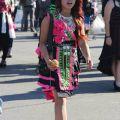 Hmong clothes fashion sale kue wigs lace net