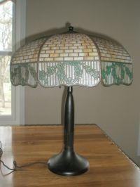 Vintage Antique Circa 1906 Handel Table Lamp Slag Glass ...