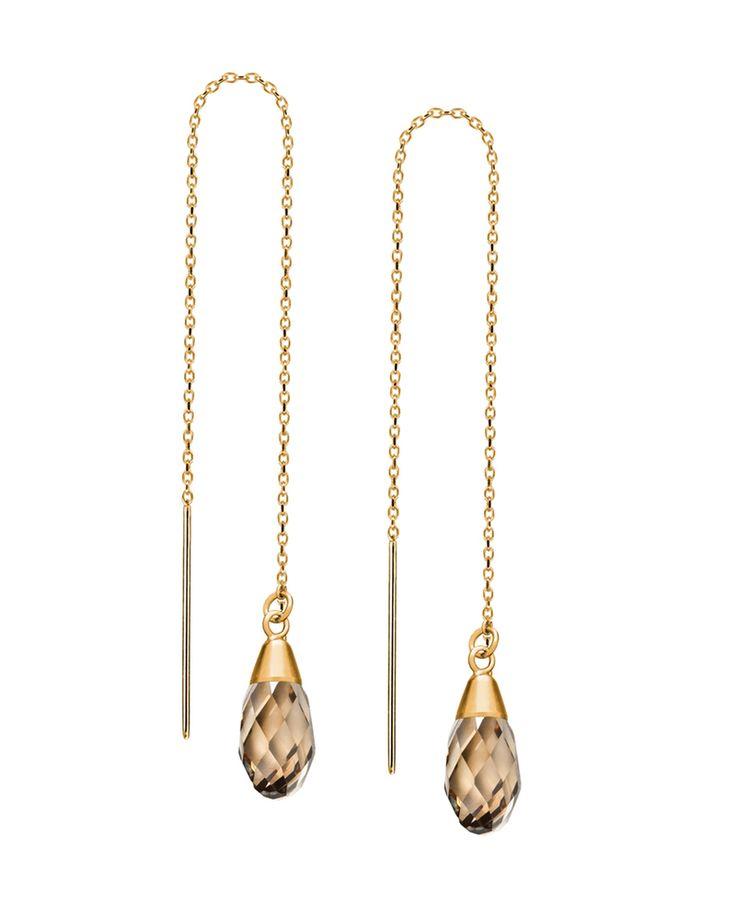 golden threader earrings