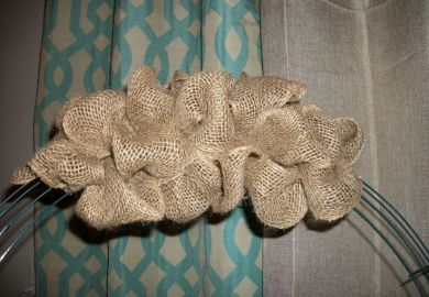 Diy Burlap Wreath Instructions