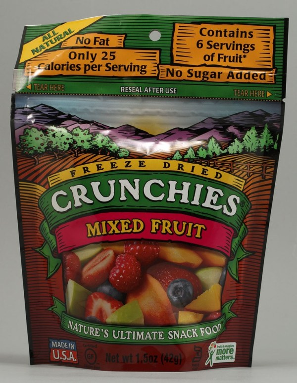 Crunchies Freeze Dried Snack Food Mixed Fruit
