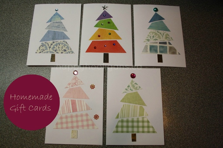 Homemade cards (wallpaper samples and small crafting jewels)