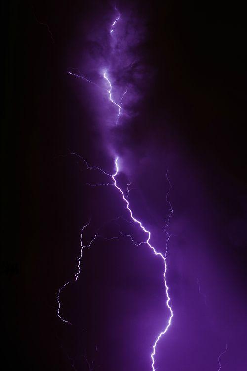 Purple Lightning Images