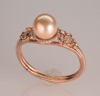 Pink Pearl Ring - in 14K rose gold