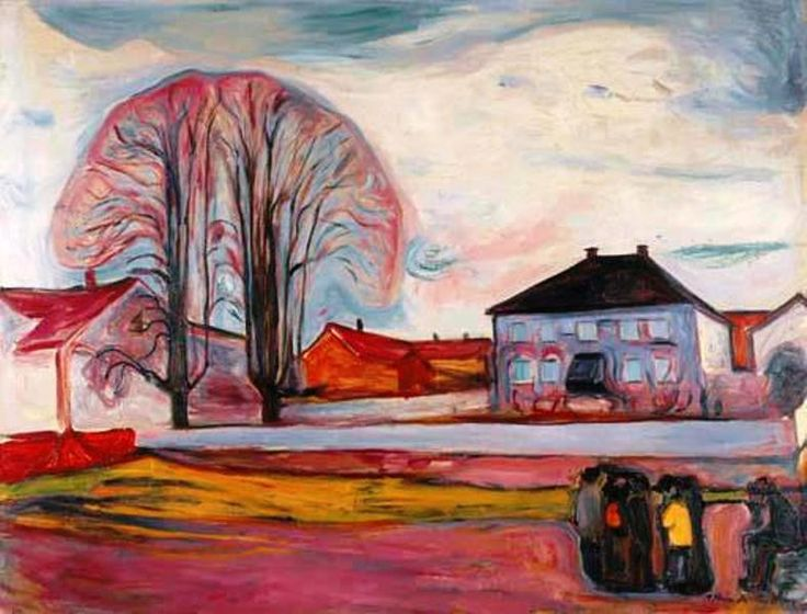 Edvard Munch - House in Aasgaardstrand, 1905 Oil on canvas