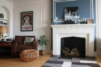 Fireplace accent wall | Living Room | Pinterest