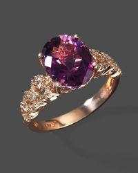 Rose Gold Ring: Rose Gold Ring Amethyst