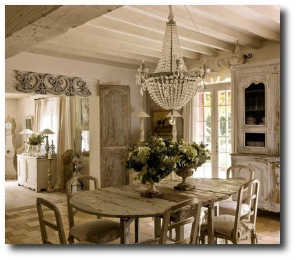 5 Painting Tips To Getting A Distressed Look On Your Furniture French Decorating Featured In Campagne Decoration Magazine- All White Interiors, White Decorating – The White Dresser