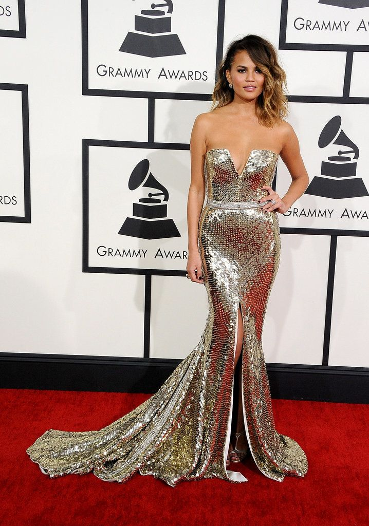 Glitz & Glam! Chrissy Teigen.The Grammys