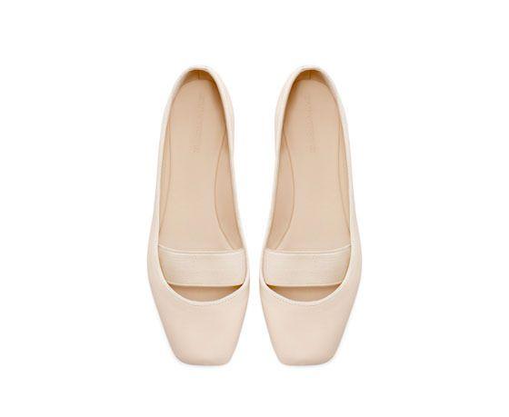 leather ballerina flats / zara